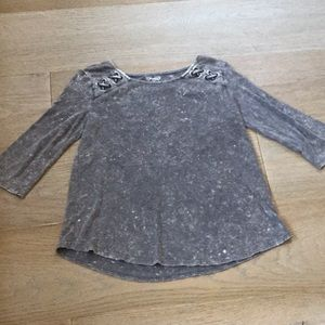 Mudd lace-up 3/4 sleeve shirt
